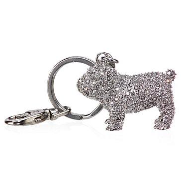 Jeweled Dog Keychain
