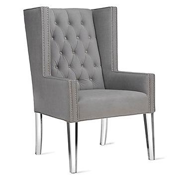 Logan Wing Chair - Acrylic