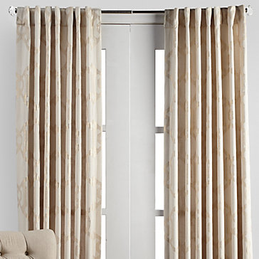 Luxe Panels Ivory Gold Curtain Rods Collections Z