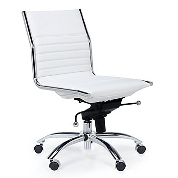 White Office Chair Modern Malcolm Armless Chair Z Gallerie
