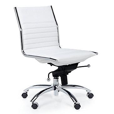 Malcolm Armless Desk Chair - White