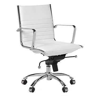 Malcolm Desk Chair White Office Chairs Home Furniture Z Gallerie