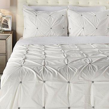 Malden 3 Piece Bedding Set   White