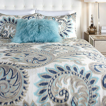 Marchall 3 Piece Bedding Set - Cerulean