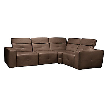Milan Reclining Sectional - Brown  sc 1 st  Z Gallerie : brown leather sectionals - Sectionals, Sofas & Couches