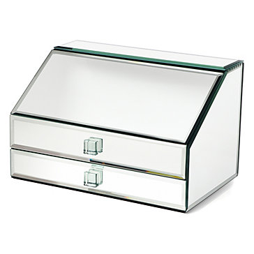 Mirrored jewelry box unique jewelry storage z gallerie for Mirror jewellery box