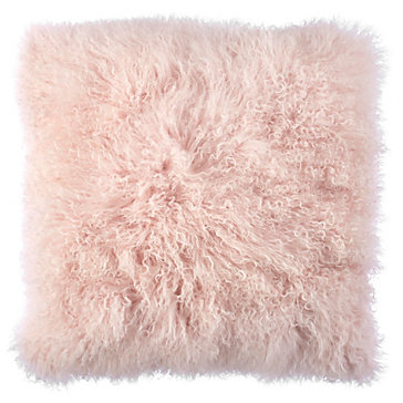 dceb795f2e55 Light Pink Mongolian Fur Pillow
