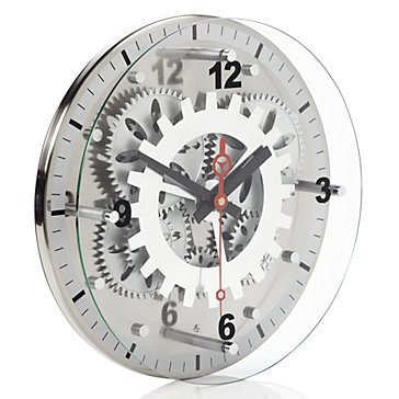 Moving Gear Wall Clock by Z Gallerie