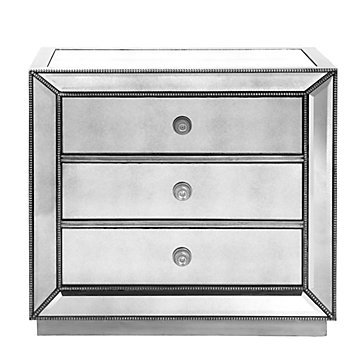 Charmant Omni Mirrored 3 Drawer Chest