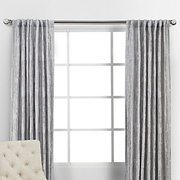 Pali Panels Silver Curtain Rods Collections Z Gallerie
