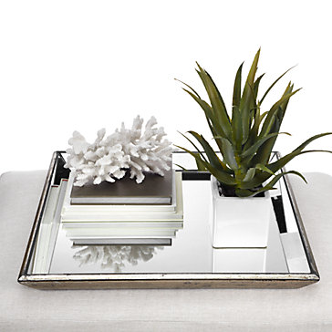 Mirrored Tray Luxe Metallic Pascual Tray Z Gallerie