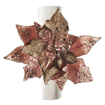 Poinsettia Napkin Ring - Set of 4