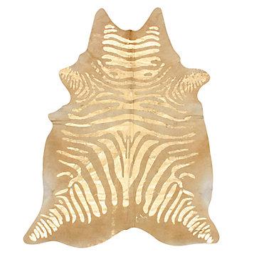 Sahara Hair On Hide Rug - Gold