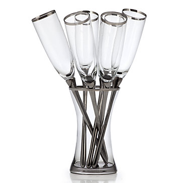salud toasting flutes set of 6 luxe for less tableware luxe