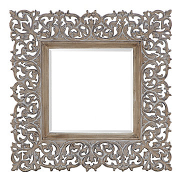 Sienna mirror natural del mar living room inspiration for Mirror z gallerie