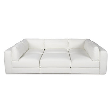 Z Gallerie Leather Sofa Love Pit 1970s Style Sectionals
