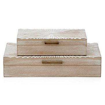 Sunburst Boxes - Set of 2