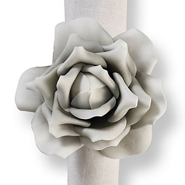 Village Flower Napkin Ring - Set Of 4