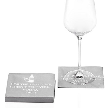 Vodka Texted Beverage Napkin