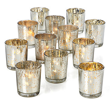 Silver Mercury Glass Votives Z Gallerie