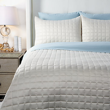 West Street Quilted Coverlet Set - Ivory