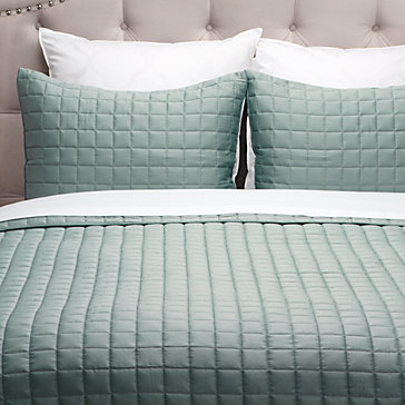 West Street Quilted Coverlet Set - Sea Foam