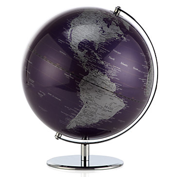 Globes For Sale >> World Globe Aubergine