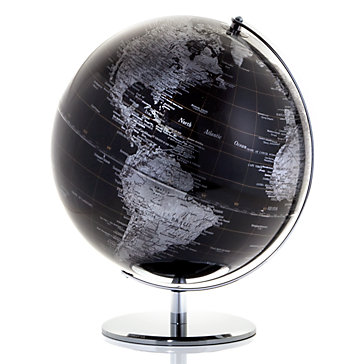 World Globe in Black | Globe of the World | Z Gallerie