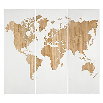 World Map Panel Gifts For Him Gifts Holiday Decor