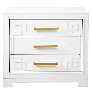York 3 Drawer Nightstand