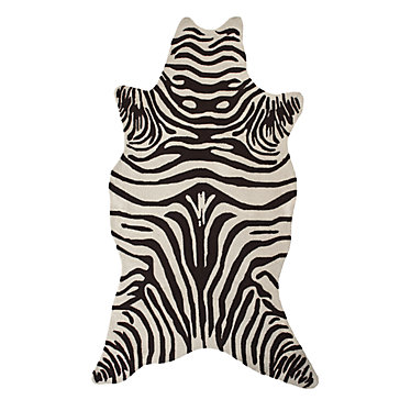 Zebra Indoor Outdoor Rug Chocolate