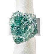Green Fluorite Napkin Ring - Set of 4