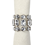 Brilliant Napkin Rings - Clear - Set of 4