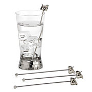 Owl Cocktail Stirrers - Set of 4