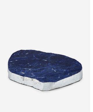 Sodalite geode serve platter