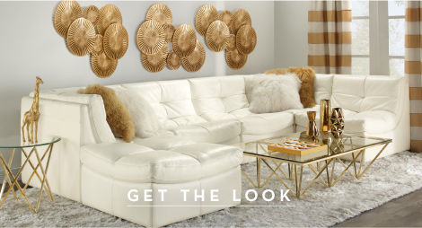 White and gold luxe living. Get the look.