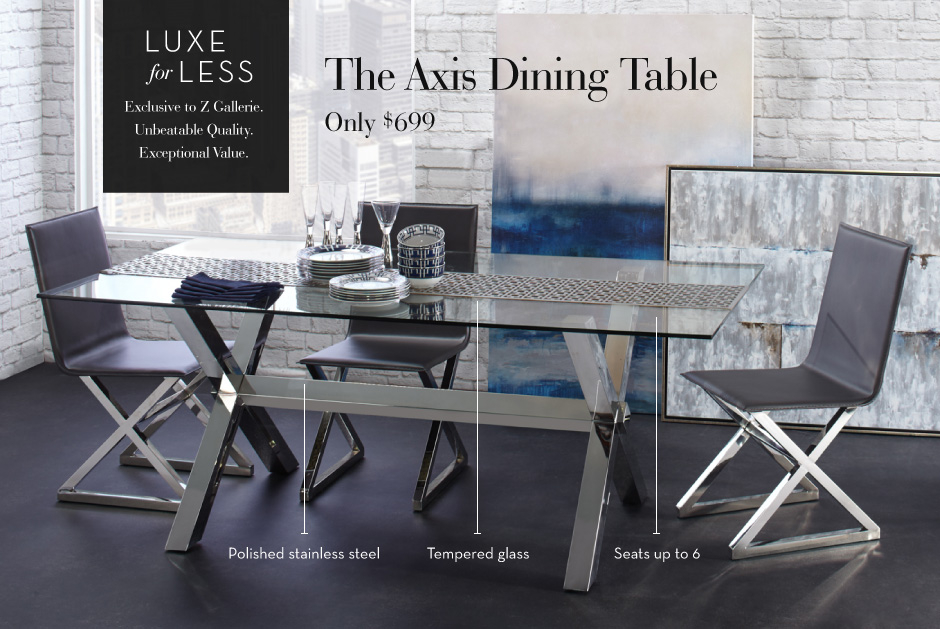 Luxe for Less - The Axis Dining Table