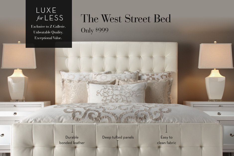 Luxe for Less Bed