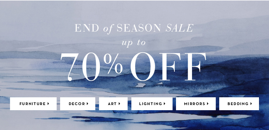 End of Season Sale. Up to 70% Off