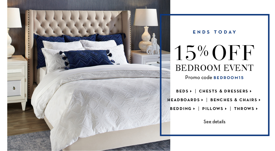 15% off Furniture - Promo code FURN15