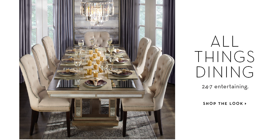 Dine in Style. Shop the Look