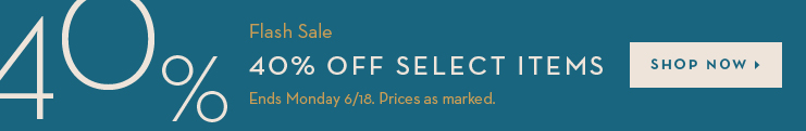 Flash Sale - 40% Off Select Items