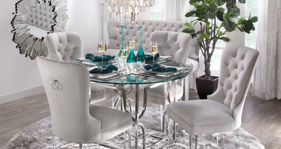 Dining room chairs chic sleek dining chairs z gallerie for Z gallerie dining room inspiration