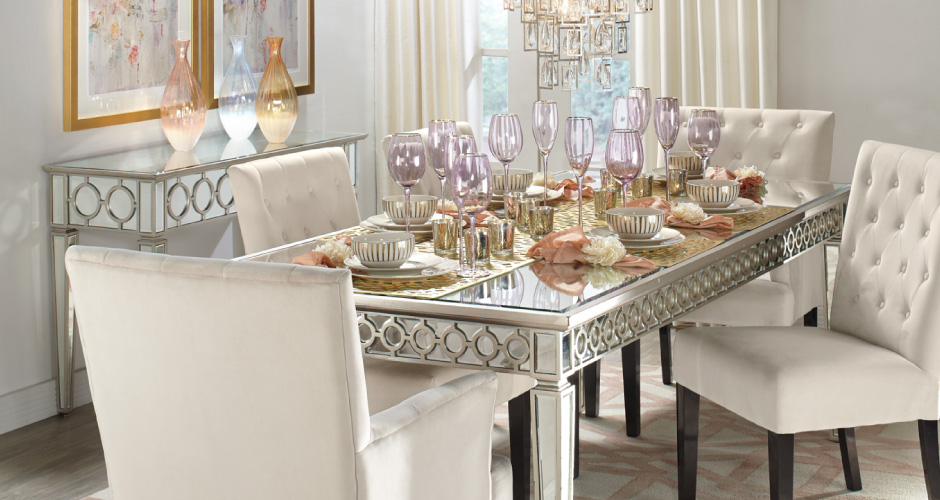 Charming Sophie Glam Dining Room Inspiration Awesome Design