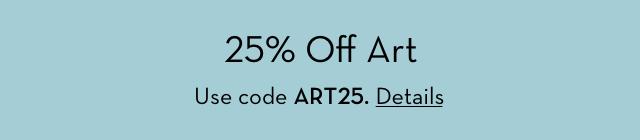 25% off art use code ART25