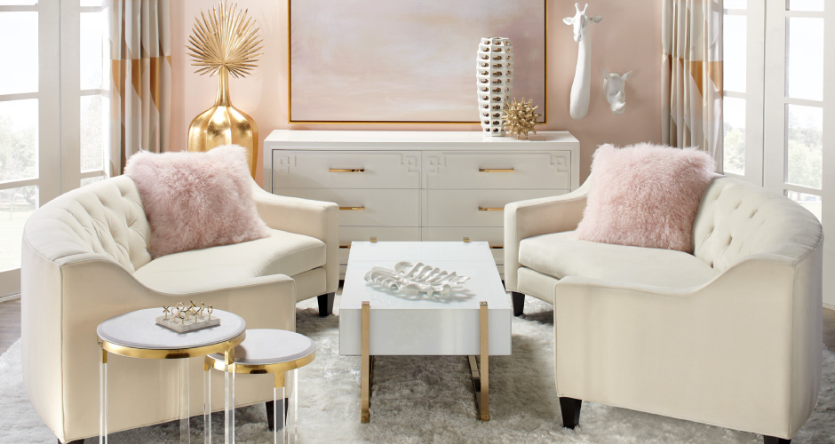 Blush U0026 Gold Furniture And Decor
