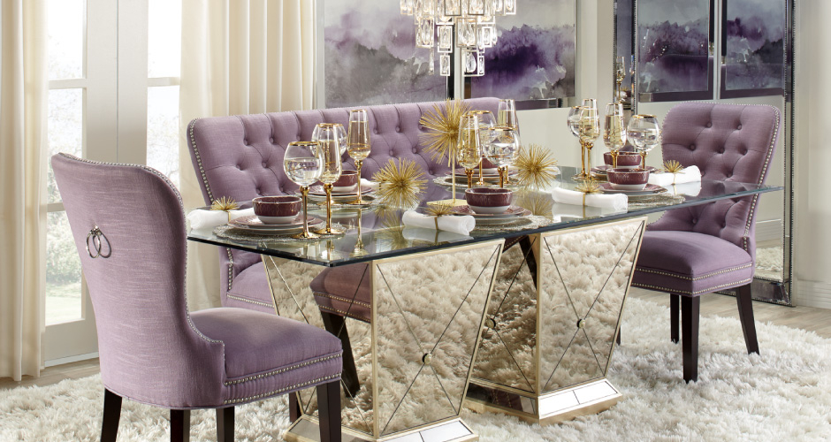 Amethyst Borghese Dining Room Inspiration Idea