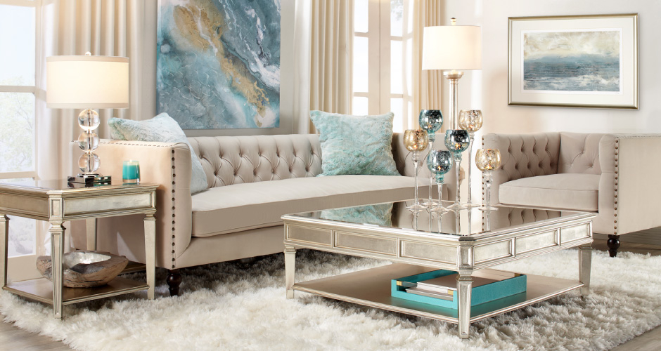 Aqua Roberto Living Room Inspiration