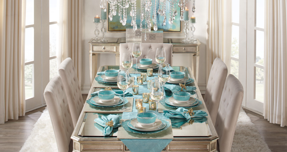 Aqua Empire Dining Room Inspiration