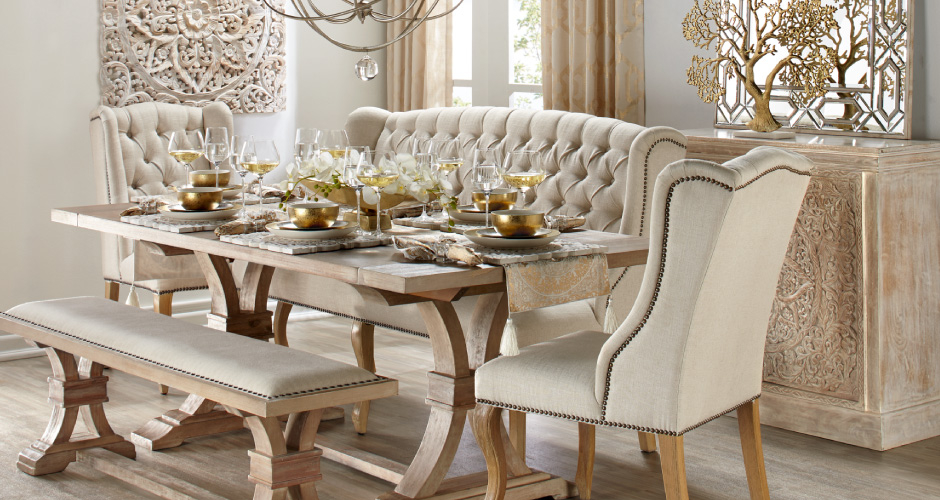 Stylish home decor chic furniture at affordable prices for Dining room inspiration ideas